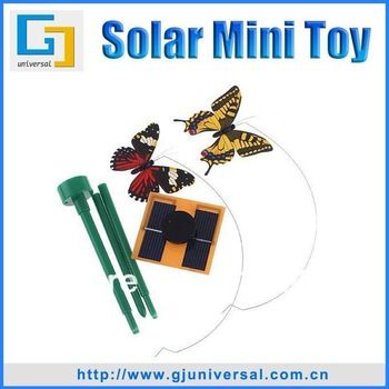 DHL EMS Free Shipping Solar Power Color Butterfly Toy(20PCS/Lot),Solar Powered Butterfly Toy,Garden Decoration Butterfly