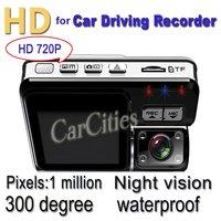 car DVR Camera 1 Million Pixel HD720P,1280*720 Camera Rotation:300 Degree,120 Degree Angle, vehicle DVR car DVR G-sensor