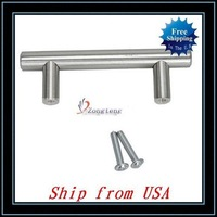 "Free Shipping + Wholesale 10pcs/lot Stainless Steel 6"" Cabinet Hardware Bar Pull Handle Ship from USA-J1033"