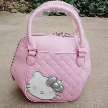 hello kitty tote bag pink Portable handbags fashion hello kitty hand bag lowest price Lady Women's Girls Purse black 9037 BKT221