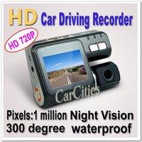 wireless car DVR 1 Million Pixel HD720P,1280*720,Camera Rotation:300 Degree,120 Degree Angle,mini car/bus/taxi DVR G-sensor