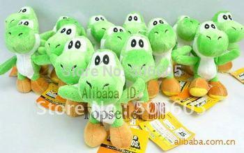 """Free shipping  50pcs/lot  Super Mario plush toys 4""""  mario figure  yoshi Plush pendant"""