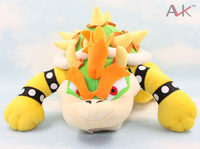 "Free shipping  1pcs/lot  Super Mario plush toys 10""  mario figure Koopa Bowser  dragon plush doll 014"