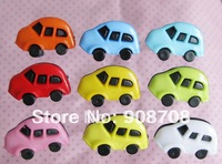Free Shipping H026 car shape fashion plastic button 100pcs girl's clothing buttons