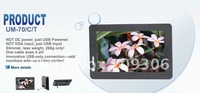 "LILLIPUT UM-70/C 7"" USB Monitor, TFT LCD, Not DC Power, Just USB Powered, Not VGA Input, Just USB Input"