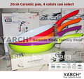 colorful 26cm ceramic pan ,ceramic coating inside open frying pan,4 colors cookware,FDA,LFGB Certification