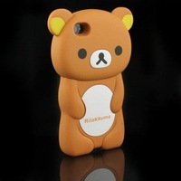 NewStyle Sweet Soft Silicone 3D Rilakkuma Bear Rubber Case Cover Skin For iPhone 4 4S,