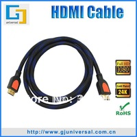 Free Shipping 1.5M 5FT HDMI Cable Gold Plated,1.3V HDMI Cable Male to Male, HDMI Cable for LCD HDTV DVD PS3 Projector