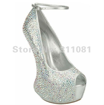 2013 fashion women shoes rhinestone platform pumps wedding shoes high heels sandals