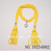 Free shipping wholesale factory price 10pcs/lot mix colors13 kinds of colors fashion necklace scarf pendant scarves rayon scarfs