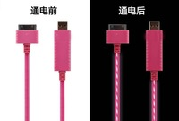 USB Sync Data Cable Visible EL for Apple iPhone 4s 4  / iPad / iPod
