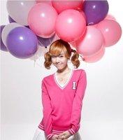 "Shipping Free-- NEO Korean 10"" advertising latex standard color balloons 100pcs/pack"