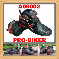 free shipping Boots PRO-BIKER Motorcycle Leather Boot Shoe Black Size EUR 40-45 A09002 High Quality