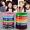 Wholesale 84pc/lot HOT NEW 1D I Love One Direction Super Star Silicone Wristband Bracelet Mixed Colors Bracelets Fashion Jewelry