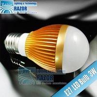 3w LED bulb ,285lm, 85v-265v, DHL free shipping