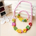 Freeshipping! New Baby/Kids/Girls Wood Necklace & Bracelet Set / handmade Jewelry Set /Fashion / Wholesale