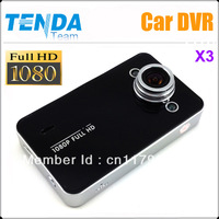 Car DVR Camera X3 Full HD 1080P with Night Vision+H.264+140 degree lens angle+HDMI+Two LED Free Shipping