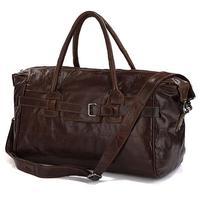 "Free Shipping Fashion Cowboy Classic Vintage Leather Unisex JMD Travel Bag Handbag Cross Body Duffle Bag Huge 17"" #7079Q"