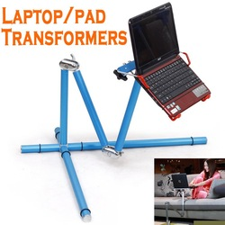 Fashion Portable laptop stand New 360 degree turning Aluminium Alloy Folding Pad Desk Table Laptop Stand CN shipping(China (Mainland))