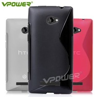 2012 New Arrival For HTC 8X  Vpower Two Color Series 8x Case with screen protector for Gift HK Post Free shipping