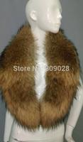 BG5977 Womens Raccoon Dog Fur Scarf Winter Fashionable Shawl Wholesale Wraps Long Hair Scarf