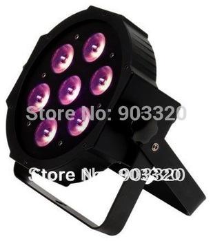 Fedex Freeshipping Xmas Promotion NEW 7*12W Quad LEDs (RGBA/RGBW) NEW Mega Quadpar Profile , DMX Par Can,ADJ PAR LIGHT