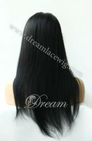 "Free shipping!!!Fashion Hair style Brazilian virgin remy front lace wig,8""-24"" yaki  #1"