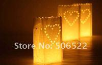 Free shipping 26*15*9cm GOOD QUALITY! Flame Retardant Paper Candle Bag,fashion wedding decorative bag