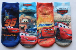 2344 babys cotton socks 2-15years car cartoon boys socks 12pcs/lot can chose size free shipping fit childrens wholesale summer(China (Mainland))
