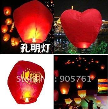 30 pcs/Lot Free shipping Flying Lanterns sky balloons Kongming lantern