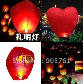 30 pcs/Lot Free shipping Flying Lanterns sky balloons Kongming lantern