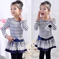 Baby Girls dress kids Children Dress long sleeve 886 princess fringe girls dresses 0920 B xjw