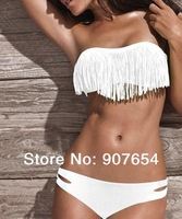 New Arrival  High Grade sexy bikini with cup fashion sexy Tassel swimwear Shoulder strap sexy women' bikini
