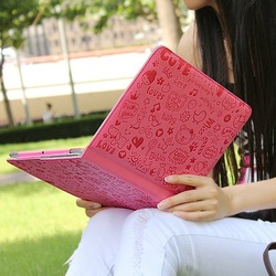 Magic Girl Leather case For Ipad 3 smart cover for ipad2 backpacks leather handbags macbook watches big discount free shipping(China (Mainland))