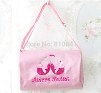 Girl Pink waterproof Ballet Bag Children Dance Waist bags Sport Sling Bags shoulder handbags nylon Fashion Girls Messager Bags