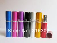 Free shipping, wholesale 5ml aluminum perfume bottle, atomizer, metal perfume bottle, aluminum atomizer, metal spray bottle