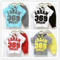 FREE SHIPMENT HOT SALES SUMMER CREAM 369 YELLOW RED HOODIES+PANTS BABY&#39;S SUITS CHILDREN&#39;S SUITS