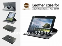 NEW!!! High quality 360 Degree Rotary PU leather  case  for ASUS Transformer Pad TF 300T 1pc free shipping