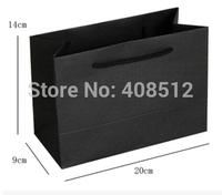 custom logo small Size Black paper bag/shopping bag/clothes/jewellery bag printing