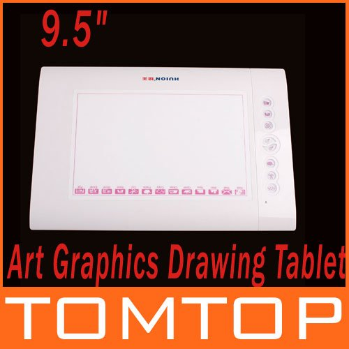 "9.5"" Art Graphics Drawing Tablet Hot keys Cordless Digital Pen for PC Laptop Computer 4000 LPI 200 RPS 2048 Levels Free Ship!(China (Mainland))"