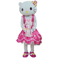 Shop Anniversary Promotion Time!! Pink Princess Hello Kitty Mascot Costume Free Shipping Accept Drop Shipping FT20047