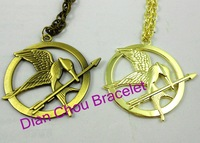 Freeshipping DHL 2012 Hotsales The Hunger Games Antique Pendant Inspired Necklace Pendant T889 New style high qaulity
