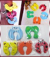 Free Shipping! Cartoon Door Stopper Foam Door Stop Animal Jammer Finger Pinch Guard Baby Safety Children Protector Protect Kids