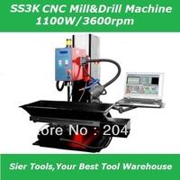 SS3K CNC machine/1100W drilling&milling machine/CNC drill machine/Hard Rails/Delivery by Sea