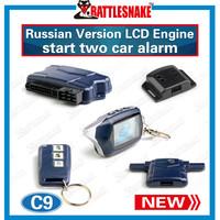 8 Anniversary of establishment two way car alarm system Starline C9 Russian version LCDremote engine starter Long distance 1200m