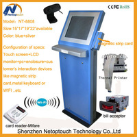 Self-service Pos Terminal Touch Barcode Scanner Kiosk