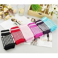 6 pair/lot Ladies Fashion Lovely Knitted Fingerless Gloves Multi Color (SE-36)