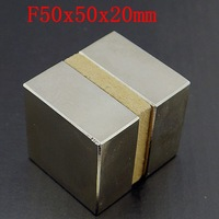 Free Shipping Wholesale 2pcs/LOT, super Strong Powerful NdFeB magnet Neodymium Magnets 50*50*20mm N50