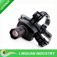 High light D3 LED headlight/ flexible focusable light/ fishing light