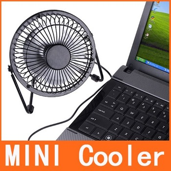 Mini Portable Super Mute PC USB Cooler Desk Cooling Fan H4467 Free Shipping Wholesale